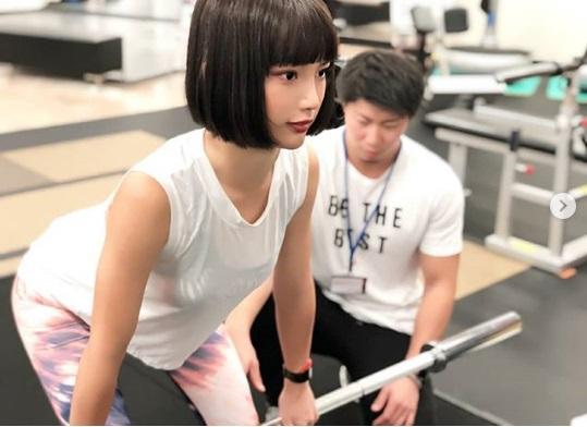 保坂玲奈のトレーニング風景
